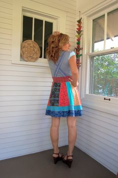 Mothers Day Sale Eco DRESS Upcycled Clothing jumper by zasra, $63.75
