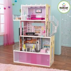 My Granddaughter has an earlier version of this house. Both she and her younger twin sisters love it. More information at http://www.grandmastoyreview.com/998/parent-review-of-the-kidcraft-beachfront-mansion/