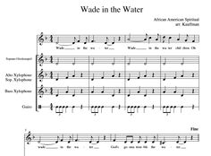 Wade in the Water: Orff Arrangment