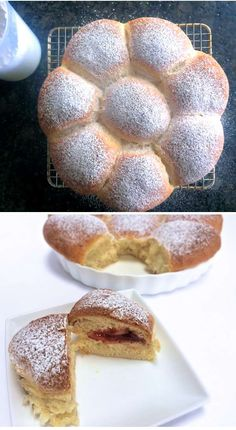 Austrian Buchteln, baked jam-filled doughnuts, pull-apart breakfast treats.