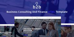 B2B - Business, Consulting, Finance & Corporate Template  -  https://themekeeper.com/item/site-templates/b2b-business-consulting-finance-corporate-template