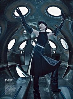 'Space Odyssey' Karen Elson by Steven Klein for US Vogue September 2012 [Editorial] - Fashion Copious