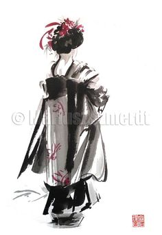 Hey, I found this really awesome Etsy listing at https://www.etsy.com/listing/168160681/geisha-art-geisha-creations-dress-woman