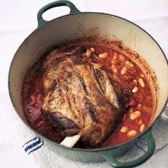 Slow Cooked Lamb Shoulder Borlotti Beans