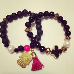 #zoecreations #perlaaguadulce #black #negro #red #rojo #bracelets #pulsera #jewelry #pr
