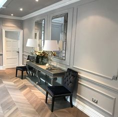 A luxurious hallway with panelling #hallway #panelling