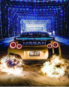 Who's Ready for Christmas? 😆 So Stoked that we hit I really can't wait t. by Exotic Super Cars 😈 Skyline Gtr, Nissan Skyline Gt R, Nissan Gt R, Nissan Gtr Nismo, Gtr R35, Nissan Gtr Wallpapers, Street Racing Cars, Auto Racing, Drag Racing