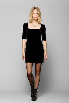 Kimchi Blue Velvet Bodycon Dress #urbanoutfitters