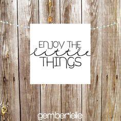 INSTANT DOWNLOAD | Nursery Art | Wall Art | Subway Art | 4x4 | 8x8 | Enjoy the Little Things
