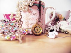 clock, girly, jewelry, photography, pink