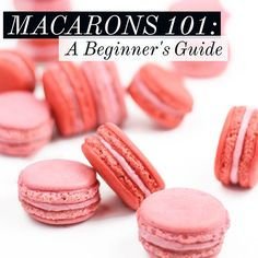 How to make simple, homemade French macarons. Macarons 101: A Beginner's Guide with FREE printable macaron piping template for perfect macarons.