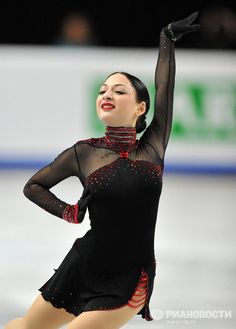 Elene Gedevanishvili -+ Black Figure Skating / Ice Skating dress inspiration for Sk8 Gr8 Designs