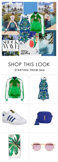 """""""Summer is a State of Mind"""" by summervintage ❤ liked on Polyvore featuring Topshop, Dsquared2, adidas, Yves Saint Laurent, Kate Spade, Sheriff&Cherry and THE HIP TEE"""