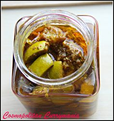 Make Your Own Green Mango Pickle w/ Indian Five Spices (paanch phoron) - Gluten Free, Vegan
