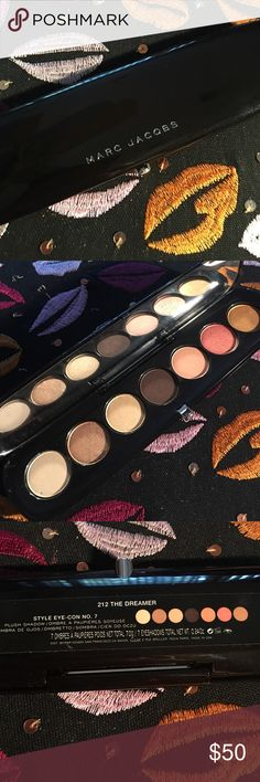 Marc Jacobs eyeshadow  the dreamer pallet Only swatched. Needs a home. Marc Jacobs Makeup Eyeshadow