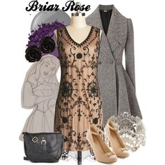 Briar Rose by amarie104 on Polyvore featuring Alexander McQueen, Urban Decay, Essie and Disney