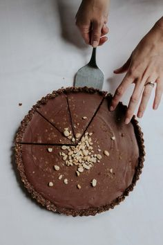 Vegan Nutty Caramel Chocolate Tart – Smollandhungry Chocolate Ganache Tart, Chocolate Caramels, Coconut Cream, Almond Butter, Dried Dates, Vanilla Essence, Spice Things Up, A Food, Food Processor Recipes