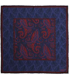 LIBERTY LONDON - Dark Blue Eastwood Print Silk Pocket Square