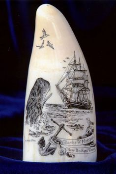 Whales AND scrimshaw. Awesome!