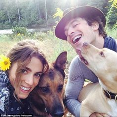 Praising her hard work: 'Thank you for giving so much of your life and for being a strong voice for those whom can't speak. My hat is off to you. You amaze me. Love, Ian', Somerhalder said of girlfriend Nikki Reed