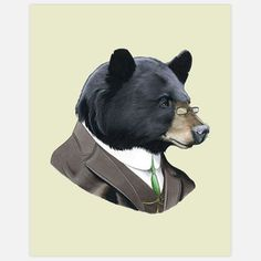 Black Bear, print by Ryan Berkley (5x7 is $10; other sizes available on his Etsy store)