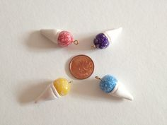 Adorable DIY polymer clay snow cone charm set!!!  (can't find a tutorial, repinning for the DIY idea)
