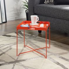 HARVEY PARK Table with removable tray- HARVEY PARK Masuta cu tavita detasabila Practical and modern, the table will add color and complete, in a cheerful note, the decor of your home. Kitchen Dining, Kitchen Decor, Orange Blush, Modern Table, Tray, It Is Finished, Living Room, Inspiration, Furniture