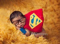 Superman Superhero Newborn Boy Costume by pitterpatcrochet