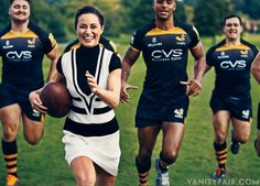 PITCH PERFECT Pippa Middleton, photographed with members of the London Wasps Rugby team at Coworth Park, in Berkshire, U. Style Pippa Middleton, James Middleton, Middleton Family, Pippa And James, Kate And Pippa, Vanity Fair, Norman Jean Roy, World Rugby, Grown Man