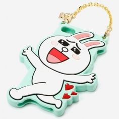 Line Cony Rabbit Silicon Case with Chain for iPhone Used Iphone, Iphone Phone Cases, Iphone 5s, Line Cony, 4s Cases, Vulnerability, Rabbit, Handle, Entertaining
