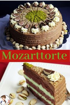 """Wolfgang Amadeus Mozart was born on January 1756 in the """"Hagenauer Haus"""" in . - Wolfgang Amadeus Mozart was born on January 1756 in the """"Hagenauer Haus"""" at Getreidegasse 9 in - Delicious Cake Recipes, Yummy Cakes, Sweet Recipes, Dessert Recipes, Marzipan Cake, Torte Recepti, German Baking, German Desserts, Italian Cake"""