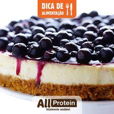 Cheesecake proteico com Cookies All Protein!  Hoje vamos postar mais uma receita para quem está morrendo de vontade de devorar um doce bem gostoso, mas com muita proteína, é claro!  Ingredientes...
