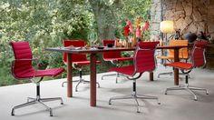 Silla de 4 radios EA 101 Colección Aluminium Group Chairs by Vitra diseño Charles & Ray Eames