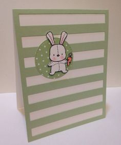 Hoppy Easter greeting card comes with stamped envelope.  Card is 4.25 x 5.50. on Etsy, $6.50