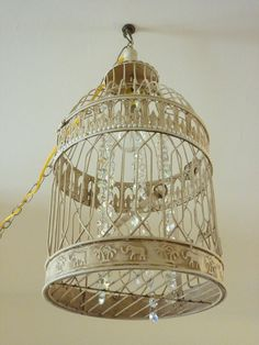 Bird Cage Chandelier plugIn by ctadornments on Etsy, $120.00