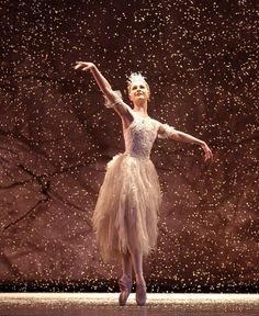 Jenna Roberts as The Snow Fairy in Birmingham Royal Ballet's The Nutcracker. Photo: Roy Smiljanic