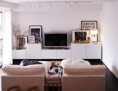 Album - 1 - Photos catalogues IKEA Banc TV, Besta, Billy, Hemnes, Liatorp...LIKE STACKING PHOTOS ETC TO FILL IN THE SPACE