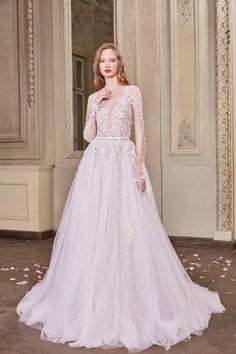 Otilia Brailoiu • Spring 2019 - Beautiful romantic long sleeve a line wedding gown