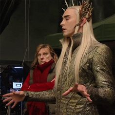 "Because jfc look at him. | 19 Reasons Thranduil Is The Real Star Of ""The Desolation Of Smaug"" eheheheheheh........this is wonderful!"