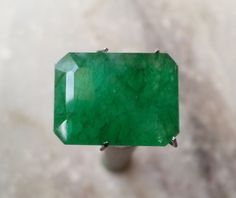 Stunning 7.20 Ct Natural Octagone Cut Certified Translucent Emerald Loose Gem #BilalGems