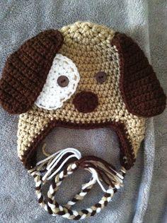 Crochet Puppy Dog Earflap Beanie Hat - Etsy $15.00