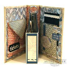 "Authentique Paper: ""Abroad"" Travel Mini Album *idea* could put CDs in the box. Mini Albums Scrap, Mini Scrapbook Albums, Book Making, Card Making, Mini Album Tutorial, Pocket Scrapbooking, Scrapbooking Ideas, Handmade Books, Handmade Journals"