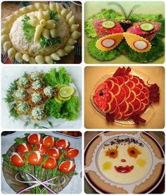 Collection of Pretty Food art Fruits Decoration, Vegetable Decoration, Cute Food, Good Food, Yummy Food, Food Design, 2 Advent, Sweet Home, Food Carving