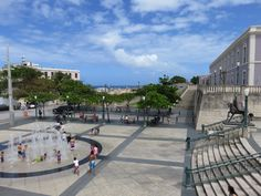 Plaza del Totem, Old San Juan, Puerto Rico.