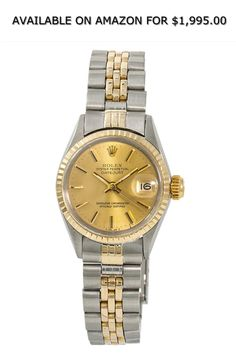 10b07ed58b9 Rolex Datejust Automatic-self-Wind Female Watch 6517 (Certified Pre-Owned). Gold  Watches ...