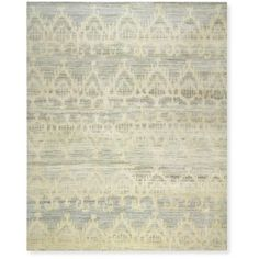 Hand Knotted Tonal Ikat Rug