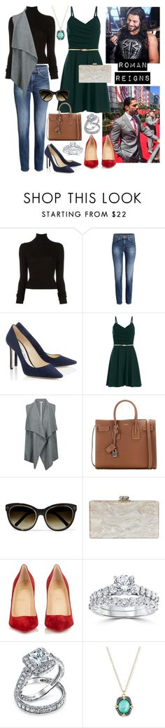 """""""Roman Reigns"""" by pure-vnom ❤ liked on Polyvore featuring BLK DNM, Duffy, Yves Saint Laurent, Chloé, Edie Parker, Christian Louboutin, Bliss Diamond, Bling Jewelry and Armenta"""
