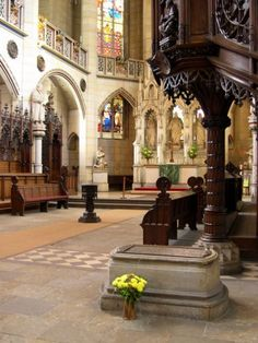 Luther's tomb in the Castle Church at Wittenberg  (c) Paul McCain
