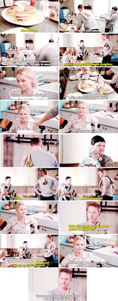"""""""Can't a father cook for his daughter"""" - David, Snow and Emma #OnceUponATime ((Hahaha, funny scene))"""