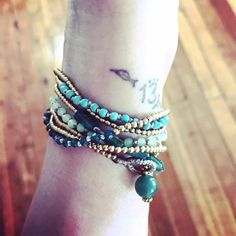 """Robin Laing on Instagram: """"These hand-made wrap bracelets are also just as great as once, twice or three times a necklace! With brass, glass and semi-precious beads.…"""" Wrap Bracelets, Bangles, Beaded Bracelets, 13 Reasons, Semi Precious Beads, Robin, Brass, Times, Handmade"""